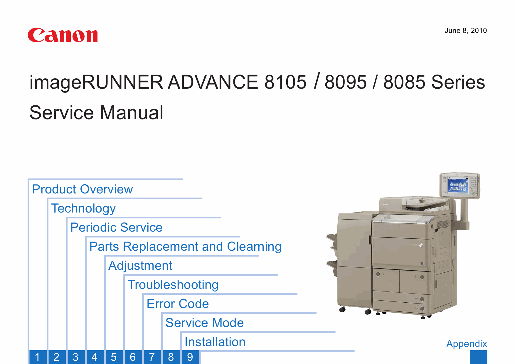 Canon imageRUNNER-ADVANCE iR-8105 8095 8085 Parts and Service Manual-1